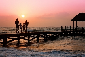 être riche et voyager avec sa famille