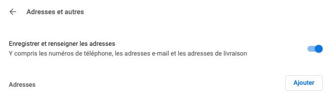 Enregistrer une adresse dans son compte Google